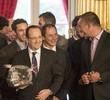 Zbigniew Gutkowski, skipper jachtu ENERGA z wizytą u prezydenta Francji François Hollande'a